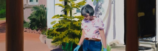 Striking paintings by Caroline Walker of her mother, cooking, cleaning and tidying at home