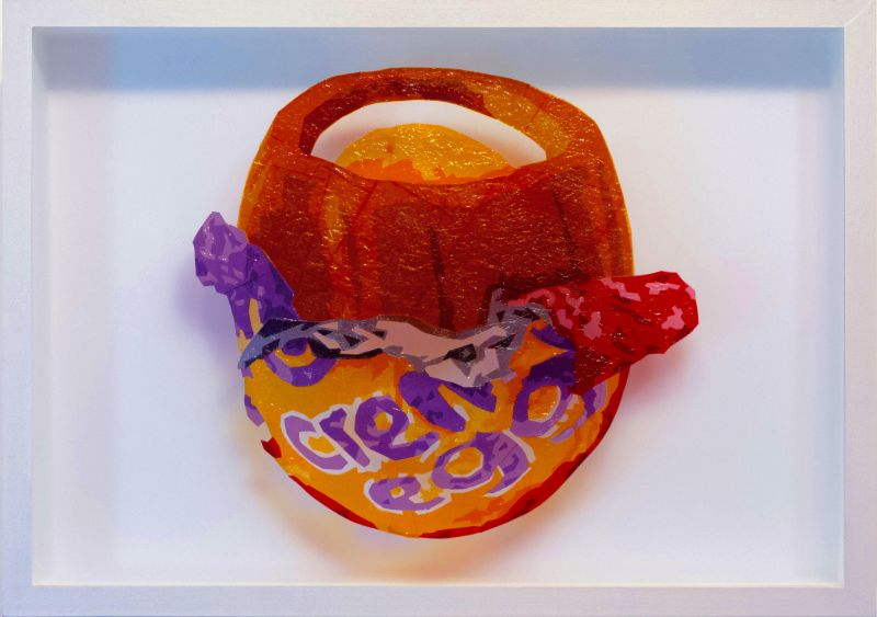 The sweet art of sustainability: Artworks of classic sweets made from their original wrappers